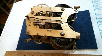 1882 Ansonia Shelf Clock brass movement 5 1/2 antique vintage old part NY wall