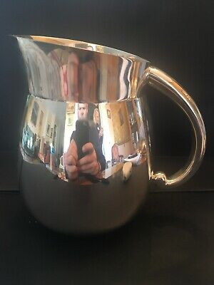Modern Tiffany & Co. Makers Art Deco Sterling Silver Water Pitcher  3 PINTS