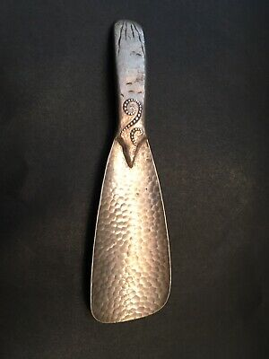 Vintage Tiffany & Co Hammered Aesthetic Movement Sterling Silver Shoe Horn RARE