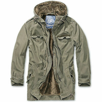 reputable site f3d2d 46c74 GIACCA BRANDIT GIACCONE Parka Uomo Esercito Militare Invernale BW Parka  Oliva