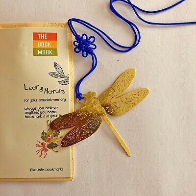 Gold Dragonfly Metal Bookmarks For Books Book Markers Gift For Readers