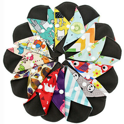 Reusable Bamboo Cloth Washable Menstrual Pad Mama Sanitary Towel Pad