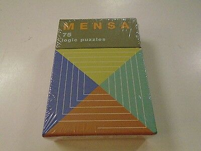 Mensa 75 Logic Puzzles Portable Box New Lexical Number Problems Conundrums
