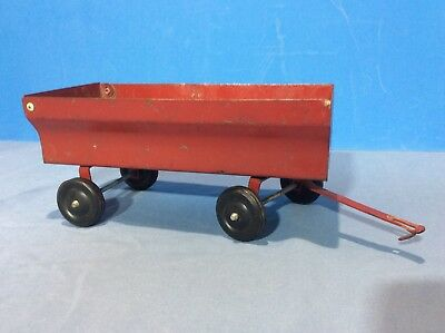 ERTL Pressed Steel Barge Farm Trailer Flare Box Wagon Red-Made in USA Vintage