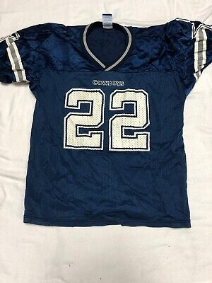 Vintage 90s NFL Dallas Cowboys Emmitt Smith  22 Football Jersey Youth Small d24ea443d