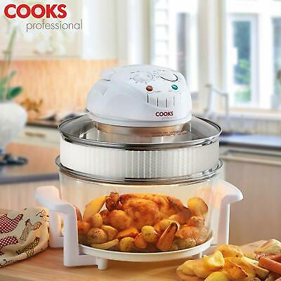 Electric Halogen Oven Air Fryer with  Accesories,1400W 17L, Cooks Professional