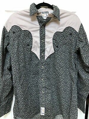 Vintage Panhandle Slims Western Pearl Button Rockabilly Shirt Mens Large L
