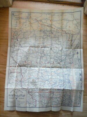 Rand McNally Official 1922 Auto Trails Map, District No. 8