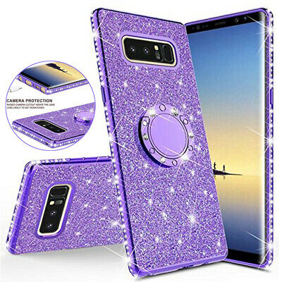 Shockproof Glitter Bling Ring Stand Case Cover for Samsung Galaxy S10 Plus/S10e
