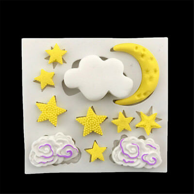 Cloud Star Moon Silicone Fondant Mold Cake Decor Tools Chocolate Gumpaste Mould
