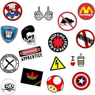 16 funny hard hat stickers tool box construction helmet union decals 2 x 2