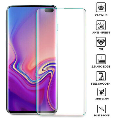 Full Cover Tempered Glass Screen Film Protector for Samsung Galaxy S10 Plus S10e