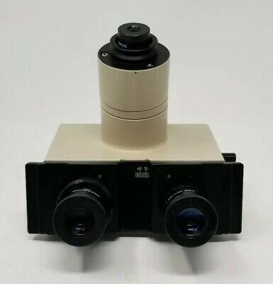 Olympus Microscope Trinocular Head BH2 BH CH CH2 with eyepieces
