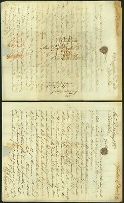 Gibraltar 1829 - Printed Matter Stampless cover to Schiedam Netherlands 345446/3
