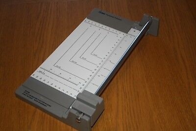 "Vintage Dahle Personal Trimmer ~ Cutting Length 230mm / 9"" ~ White & Grey"