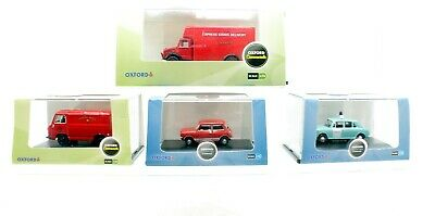 Oxford Oo Scale Set Of 4 Vehicles Bedford Luton Police Car Mini Mail Van  (Vs38)