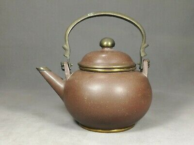 Antique Chinese Teapot Purple Clay / YiXing