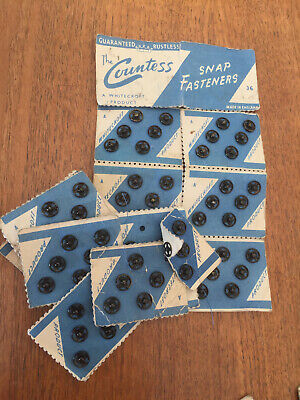 Selection of Hooks and snap fasteners for sewing