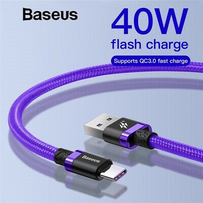 Type C USB Cable Fast Charging Charger Sync Data 6ft For Samsung S10 S9 S8 Plus