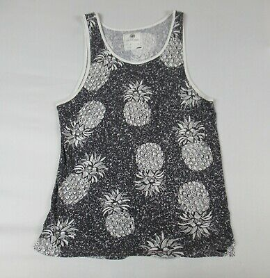 56900e8a57266 On The Byas - Tank Top - Pineapple Graphics All Over - Small - Black T