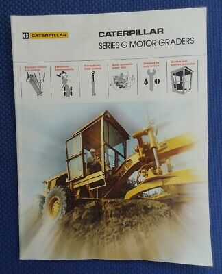 CATERPILLAR Series G Motor Road Grader Color Sales Brochure - PERFECT!