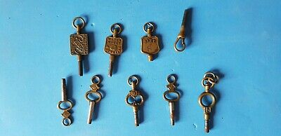 Collection of Old Pocket Watch Keys
