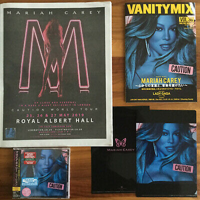 Japan Mag+Uk Poster+Promo Clearfile+Bonustrack+Stickers+Caution Cd! Mariah Carey