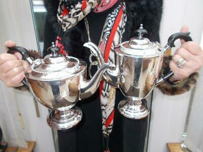 Superb English Made Silver Plated 4 Piece Tea & Coffee Set In Lovely Condition