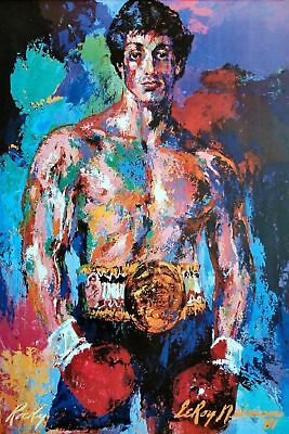 Rocky Balboa Movie Prop Painting Poster A3 / A4 - FREE UK POSTAGE