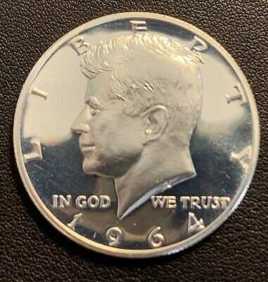 1964 Kennedy Silver Half Proof - 90% Silver RAW coin