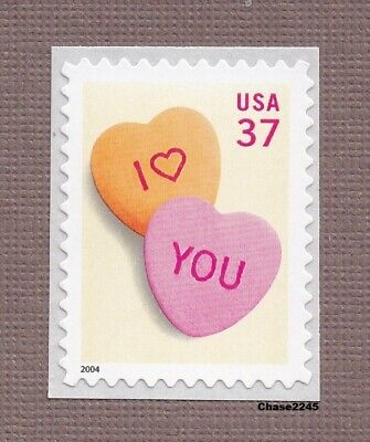 Scott #3833 Candy Hearts 37c (Self Adhesive Booklet Single) 2004 Mint NH Single