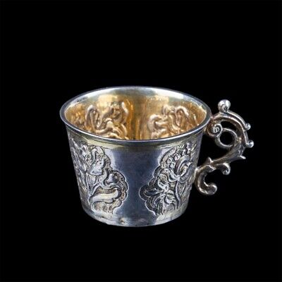 18th cent. Russian silver niello cup beaker charka Russland silber Russie argent