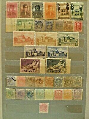 Spain, valuable stamp collection, including rare items, issued in XIX Century.