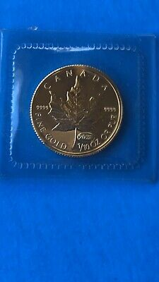 1999 1/10 Ounce Gold Canadian Maple Leaf Privy (20 Years ANS) (BU) Uncirculated