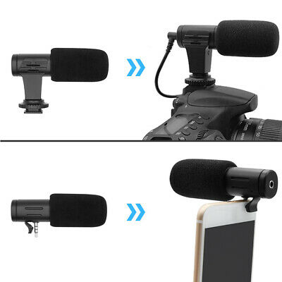 Sensitive Microphone Stereo 3.5mm Portable External Phone Camera Accessories