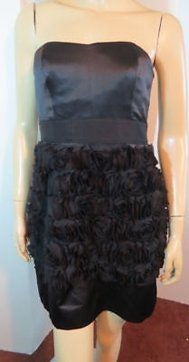 3b4321e4ca6 NEW  380 PHOEBE COUTURE Kay Unger Black Silk Bow Rosette Cocktail Party  Dress 6