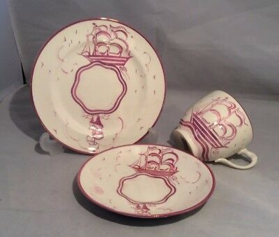 !wow! Grays Pottery Art Deco Lustre Cup/saucer/plate Hand Painted And Signed