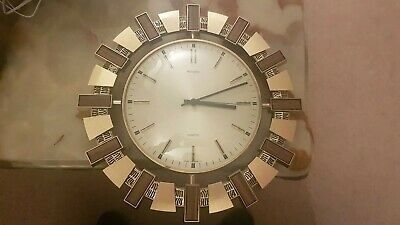 Metamec Quartz Vintage Sun Sunburst Wall Clock