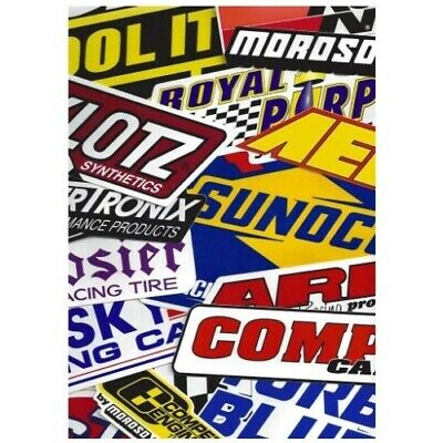Racing Decals Stickers Grab Bag Race Cars Go Karts Toolboxes (set of 26)