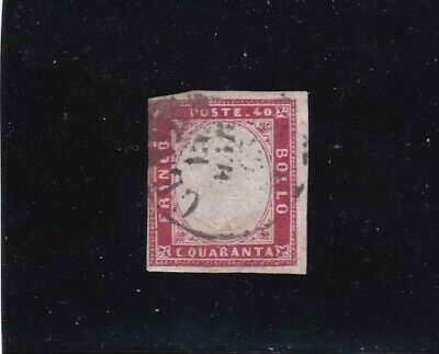 Italy, Sardinia, 1855./63. 40 cent, used, see scans.