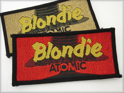 Vintage Patch BLONDIE ATOMIC Debbie Harry Rock New Wave Punk Retro 80's aufnäher
