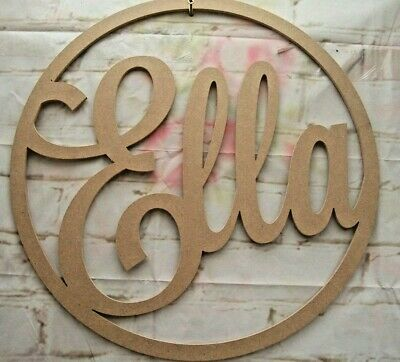 Hoop for wall art varied sizes wall decor 6mm MDF Any SINGLE LINE of Name/Word