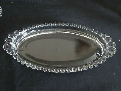 Imperial USA Candlewick Crystal Handled Pin Tray