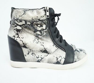 a42fbf9ad46 Torrid High Top Sneakers Shoes Wedge Snake Skin Women Size US 10.5 Wide