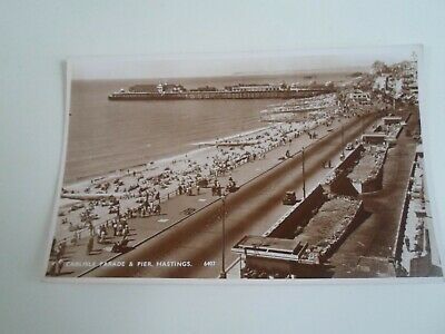 HASTINGS, Carlisle Parade & Pier (6407) Vintage RPPC Franked 1951   §E185
