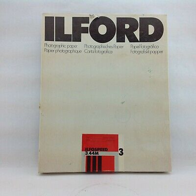 """Ilford ILFOSPEED 3.44m Photographic Paper 8x10"""" 100 Sheets Sealed"""