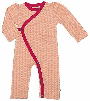 Finn and Emma Baby Coverall Pajama Orange Triangles Long Sleeve Organic New