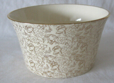Vintage Empire Ware Gold Chintz Art Deco Sugar Bowl England