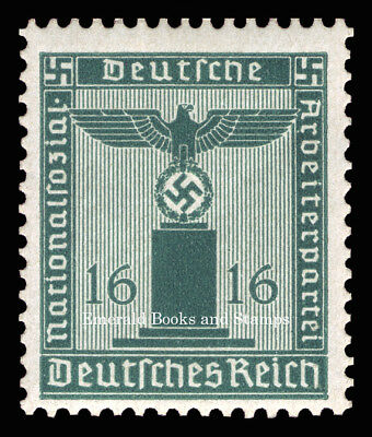 EBS Germany 1942 16 Pfennig Nazi Party Official Dienstmarke Michel 162 MNH**
