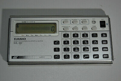 Calculadora Casio - ML-81 - Electronic Calculator - Clock - Music
